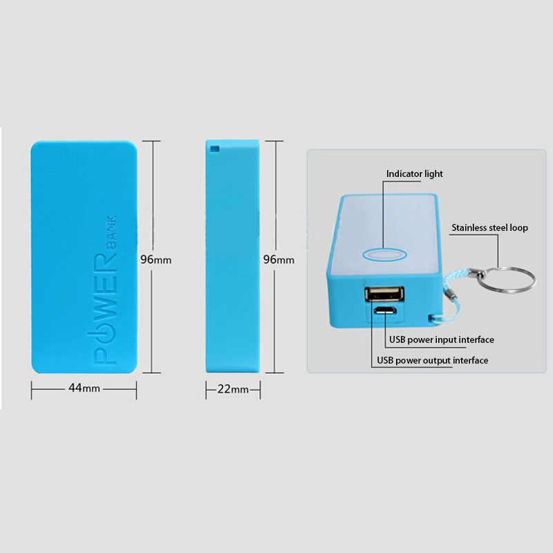 2x18650 одиночный USB DIY портативный пластиковый Аккумулятор Внешний Аккумулятор Чехол Коробка Внешний аккумулятор коробка для DIY комплект внешний аккумулятор 18650 5600mAh