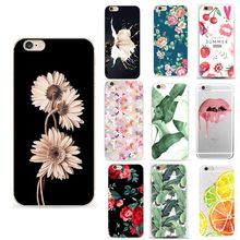 Floral Flower Fudna For Iphone X Case Luxury Funny Lip Phone Case For Iphone 6 S Cover For Iphone X XS 8 7 Plus 6S 5 5S SE Cases(China)