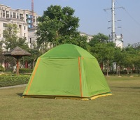 Large space 300*300*210CM 5 8person waterproof double layers camping tent with one pair of door poles