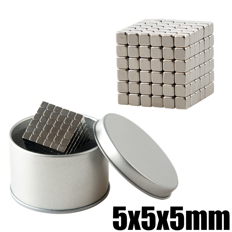 216Pcs 5x5x5 Neodymium Magnet Box Packed 5mm Magic Magnetic Buck Cube Permanent Super Powerful Magnetic Magnets DIY Puzzle Cubes пакет подарочный феникс презент чашки 18 х 10 х 23 см
