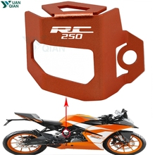 For KTM RC 250 Motorcycle Rear Brake Fluid Reservoir Guard Cover Protect rc