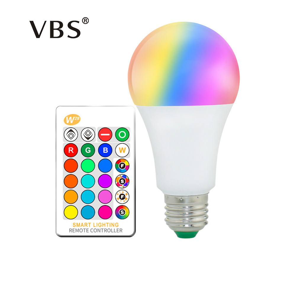 RGB Led Bulb E27 220V 110V 2835SMD 5050 SMD 5W 10W 15W RGBW RGBWW Led Lamp Light Bulb Full 16 Colors With IR Remote Control