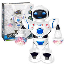 Space Dancer Humanoid Robot Toy With Light Children Pet Brinquedos Electronics Jouets Electronique For Boy Kids(China)