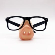 b6c33d4c45 Drôle Noir Cadre Partie Lunettes sans lentille avec silicon Porc Nez  Maquillage Masque Costume Props Parti Événement Faveurs Pho.