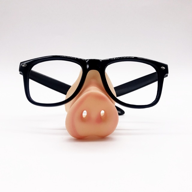 ee8edad0f1 Funny Black Frame Party Glasses without lense with silicon Pig Nose Makeup  Mask Costume Props Party Event Favors Photoprops