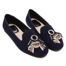 Size 34-40 Ladies Loafers 2017 Spring Black/Blue Bees Round Toe Woman Flats  Women Casual Shoes Fashion Women Flat Shoes