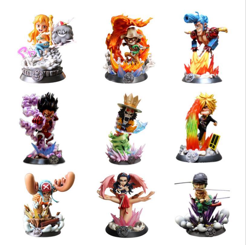 Аниме One Piece GK Gear Four Luffy Zoro игрушки Санджи и нами Робин Чоппер ПВХ Фигурки коллекционные модели игрушек
