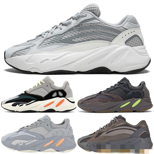 73bfcb20e Mauve 700 Wave Runner Mens Women Designer Sneakers New 700 V2 Static Kanye  West Sport Shoes