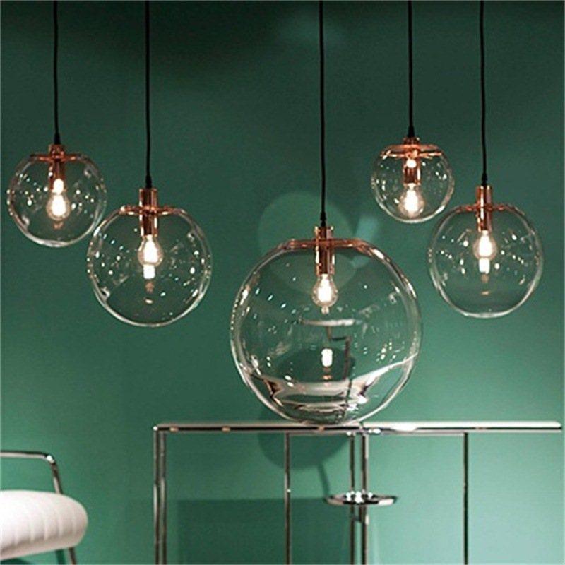 Nordic Glass Ball Pendant Lamp Globe Chrome KitchenPendant Lights Decor Home Hanglamp Luminaire Light Fixtures Light ChandelierNordic Glass Ball Pendant Lamp Globe Chrome KitchenPendant Lights Decor Home Hanglamp Luminaire Light Fixtures Light Chandelier
