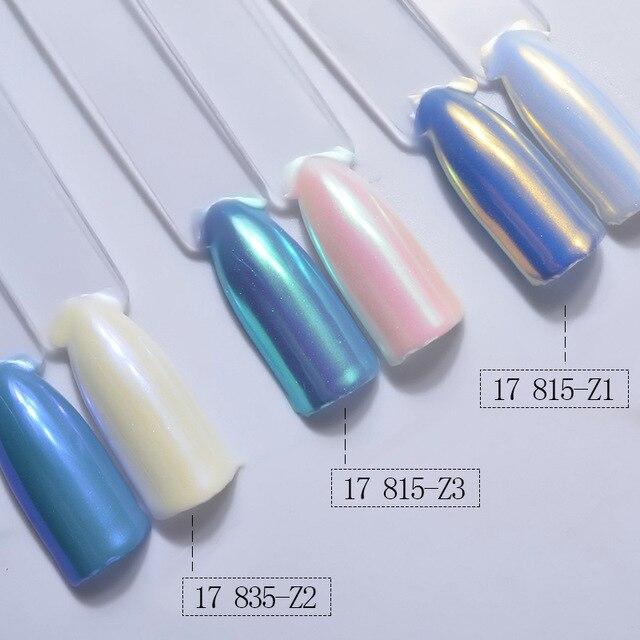 1 BOX DIY Magie Spiegel Perle Nail art Glitter Pulver Staub Polieren für Nägel Dekorationen