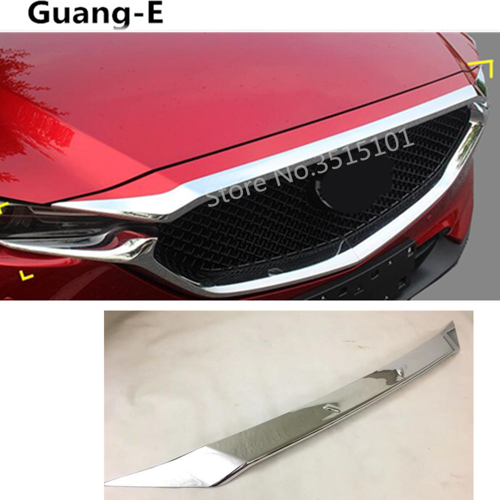 Aliexpress Com Buy Chrome Front Upper Grill Grille For: Car Garnish Cover ABS Chrome Front Engine Machine Racing