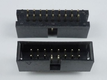 1000 Pcs Shrouded Box header IDC Socket 2.54mm 2x9 Pin 18 P straight Male square pin 0.64mm 2 rows 2.54 Through hole DIP