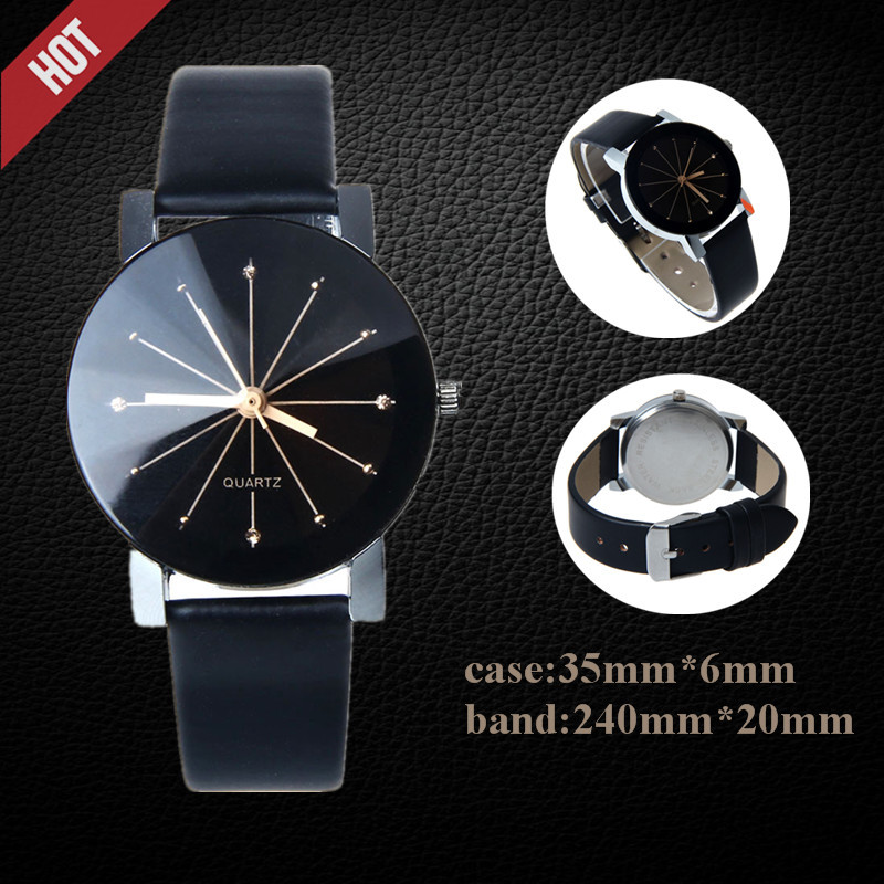 1PC WoMen Fashion Watches 2019 Brand Quartz Dial Clock Leather Wrist Watch Round Case Women Bayan Kol Saati Reloj Mujer  S7