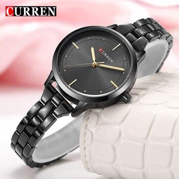 CURREN Brand Luxury Woman Casual Wristwatch Ladies Classic Quartz Watch Female Fashion Romantic Watch Relogio Feminino дамски часовници розово злато