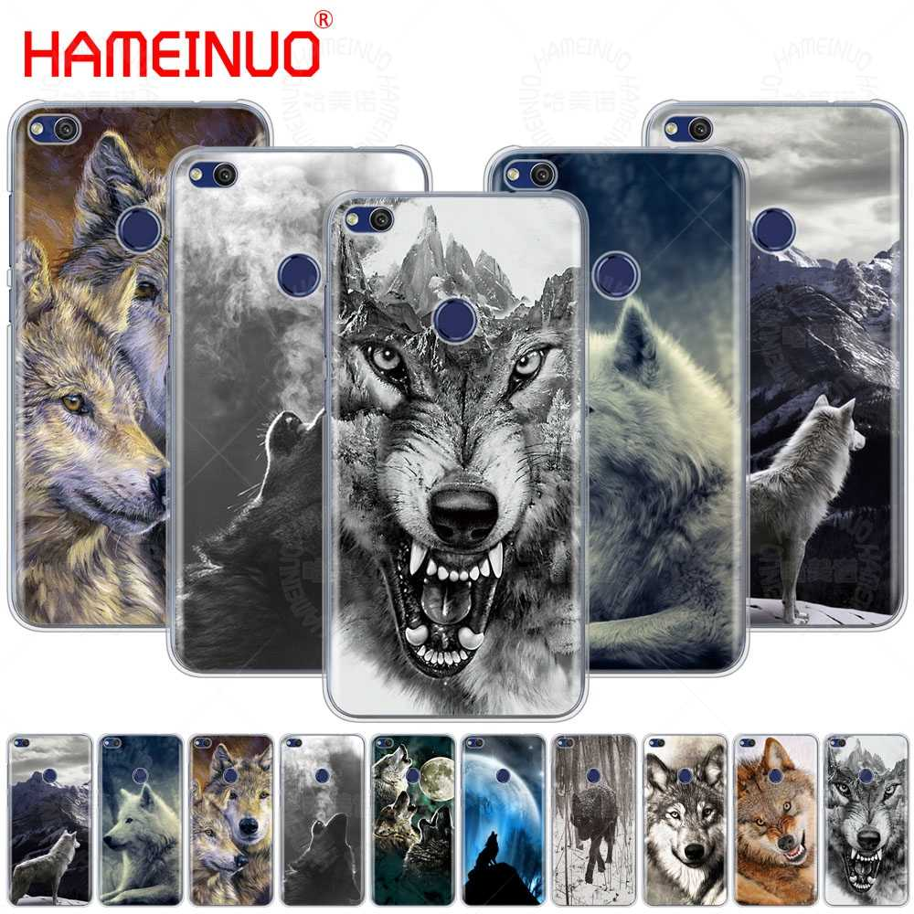 wolf animal Cover phone Case for huawei Ascend P7 P8 P9 P10 P20 lite plus pro G9 G8 G7 2017 2015 2016