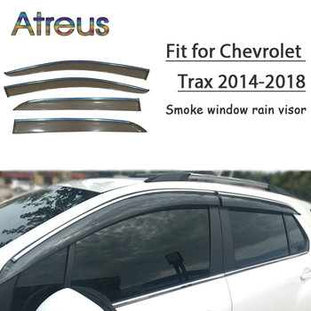 Atreus 1set ABS Rain Smoke Window Visor Car Wind Deflector For Chevrolet Trax 2014 2015 2016 2017 2018 Accessories