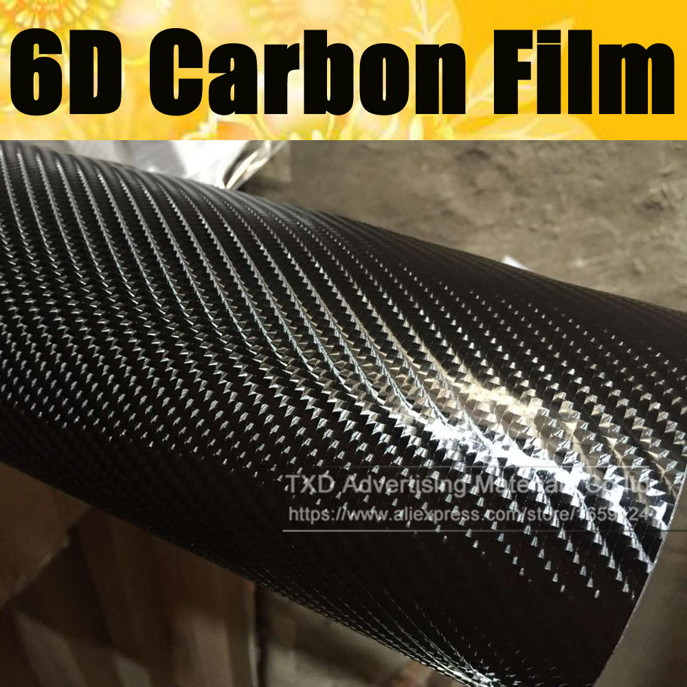 Углеродная пленка 6D Премиум-качества 10/20/30/40/50/60x152 см, супербольшая текстура, углеродная пленка 6D с пузырьками воздуха