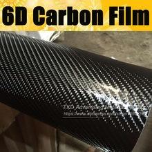 Qualidade Premium 10/20/30/40/50/60X152CM 6D filme De fibra de Carbono super grande textura 6D carbono envoltório etiqueta com bolhas de ar livre