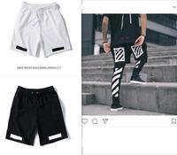 OFF WHITE C/O VIRGIL ABLOH OW 19ss Summer streetwear men's shorts tide brand slash beach joggers Beach Shorts