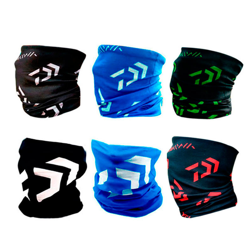 Daiwa Windproof Fishing Scarf Single Layer Gaiter Neck Outdoor Sun Protection Cycling Bandana Seamless Magic Face Mask