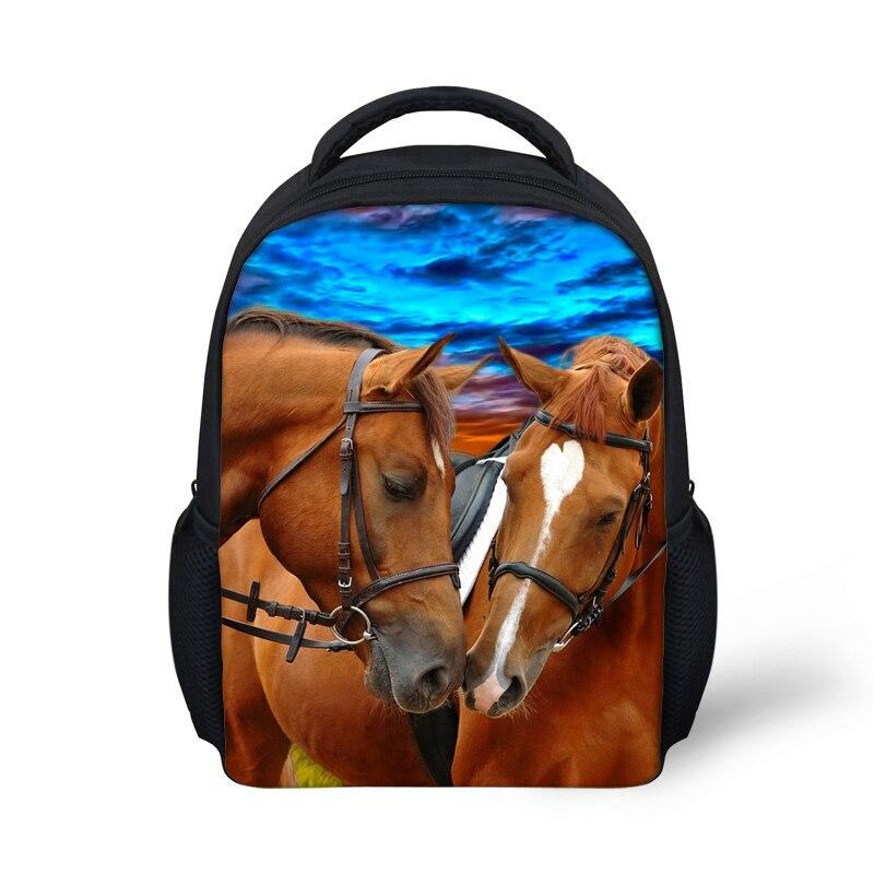 Kindergarten zoo animal kids backpacks children school backpack crazy horse dolphin print baby bagpack toddler mochilas backpack