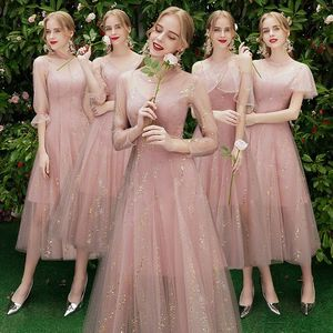 Image 1 - Beauty Emily A line Lace Red Bridesmaid Dresses 2019 Long for Women Wedding Party Prom Women Dresses