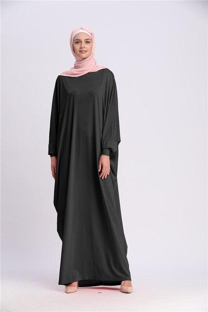Casual Muslim Abaya Bat Sleeve 5