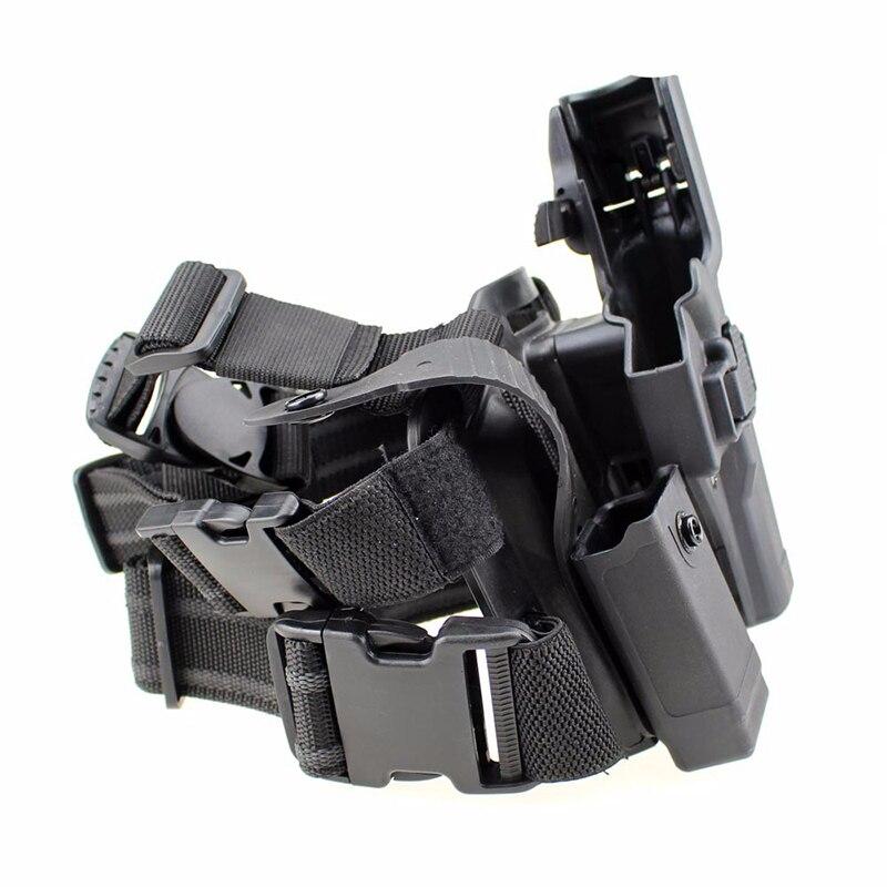 Étui tactique Glock pour jambe cuisse droite pagaie ceinture niveau pistolet pistolet étui avec poche torche pour Glock 17 19 22 23 31 - 3