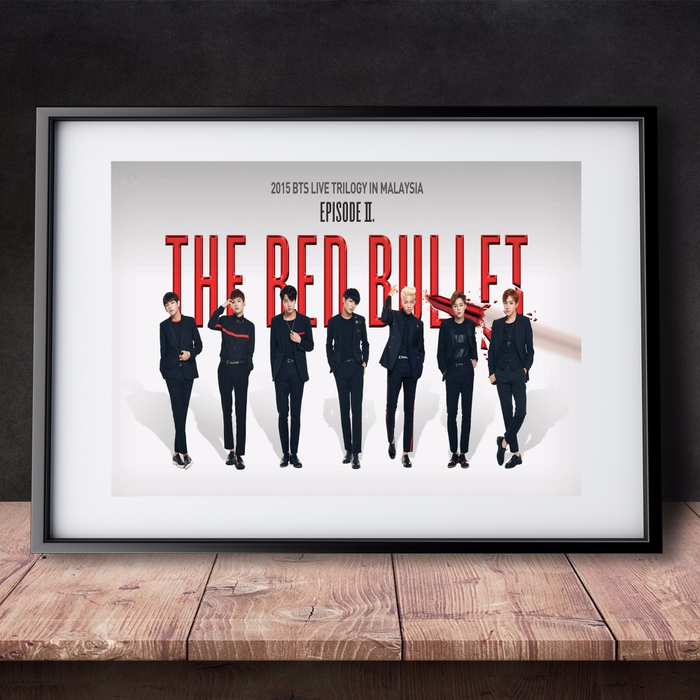 BTS Korean Music Band Leinwand Kunstdruck Malerei Poster Mauerbilder ...