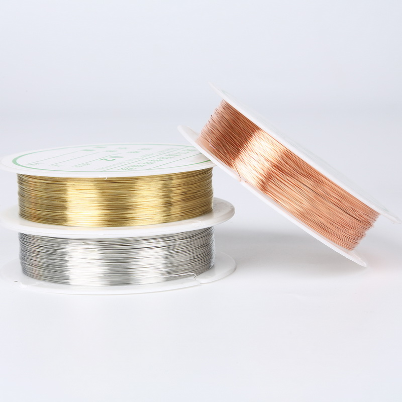 30/20/15/8/<font><b>7</b></font>/5/<font><b>3</b></font>/2m Colorful Beads Rope Copper Wires Craft Beading Wire For Bracelet Necklace Cord String Jewelry Accessories image