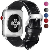 5 Colors For Apple Watch Bands 38mm 42mm Bosin Series Calf Leather Replacement Band Strapfor Apple