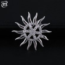 Fashion Crystal CZ Sunflower Mens Brooch Micro Pave Zircon High Quality Brooches for Women Copper Jewelry Gift fabulous short tassel drops double yellow bird brooches silver tone micro pave cz green eyes two love birds pins for girlfriend