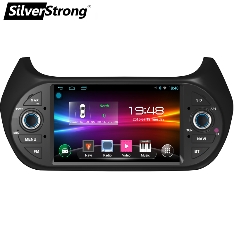 SilverStrong Car Multimedia player GPS Android9 0 Car Radio 1Din DVD For FIAT Fiorino Qubo Citroen