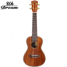 Full Sapele 23 inch Samll wooden Guitar Musical Stringed Instrument Closed Knob 4 Strings 18 Frets Ukulele UC-C8L