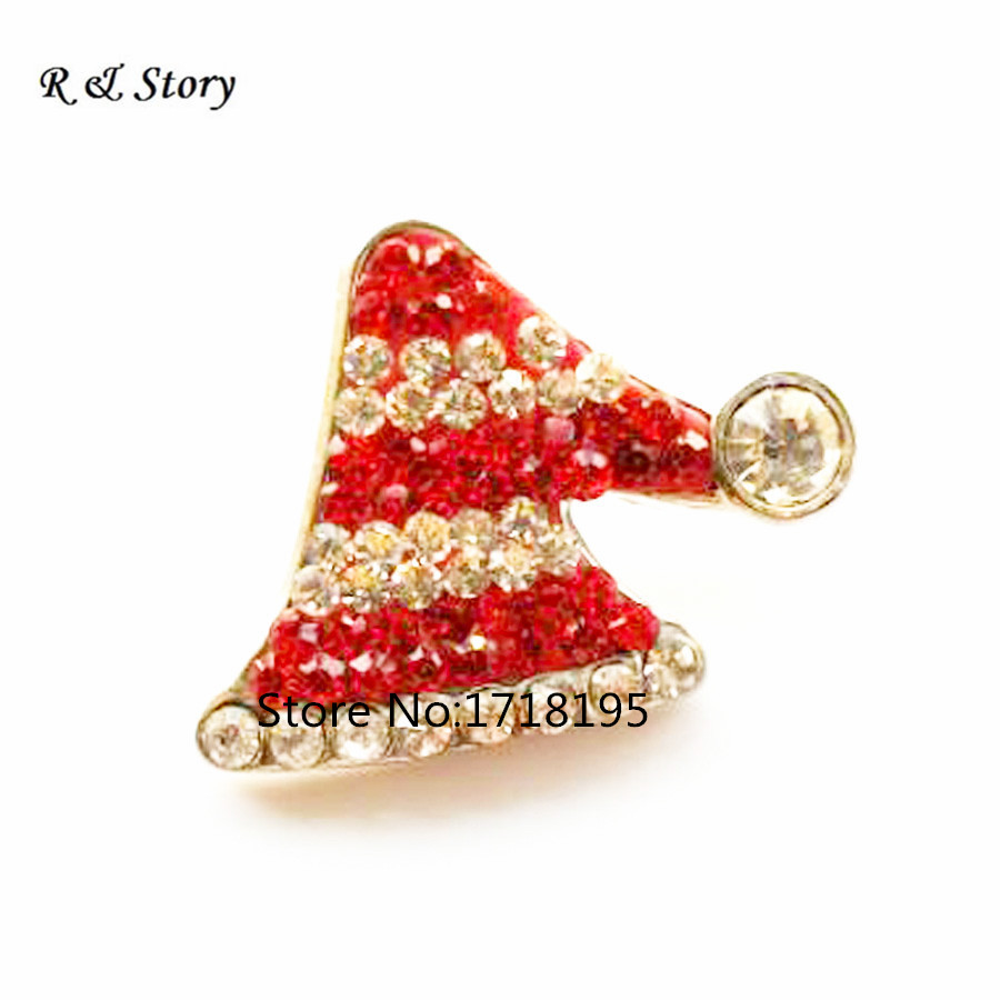 Wholesale Christmas Hat Snap Charm 18mm Custom Snap Button Jewelry SB_1028