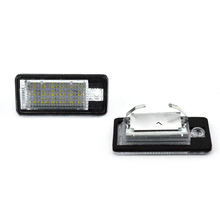 2 шт. 18 светодиодный 3528 SMD лампы для номерного знака для AUDI A3 8P A6 4F белый