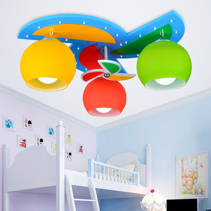 ceiling lights with 3 heads for baby boy girl kids 39 bedroom ceiling lamps children room art. Black Bedroom Furniture Sets. Home Design Ideas