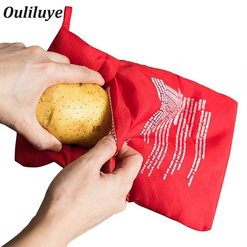 1PCS Multifunction Baking Bags For Microwave Oven Baking Potatoes Rice Food Bag Convenient Kitchen Cooking Pocket Gadgets
