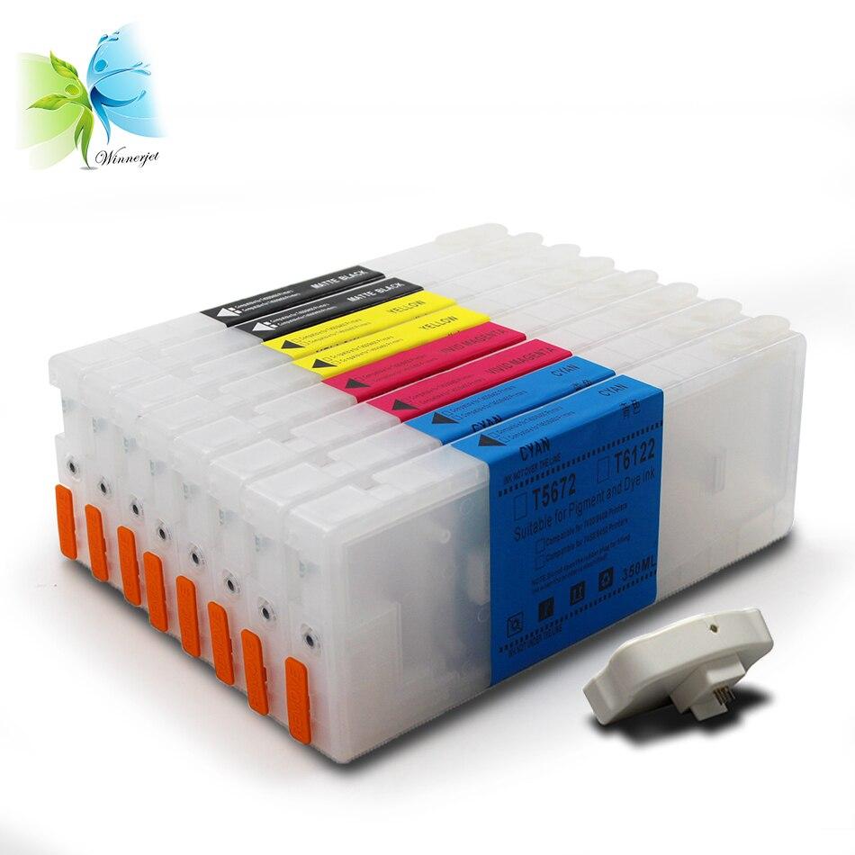 free resetter! 350ml refillable ink cartridge for epson stylus pro 7800 9800 7880 9880