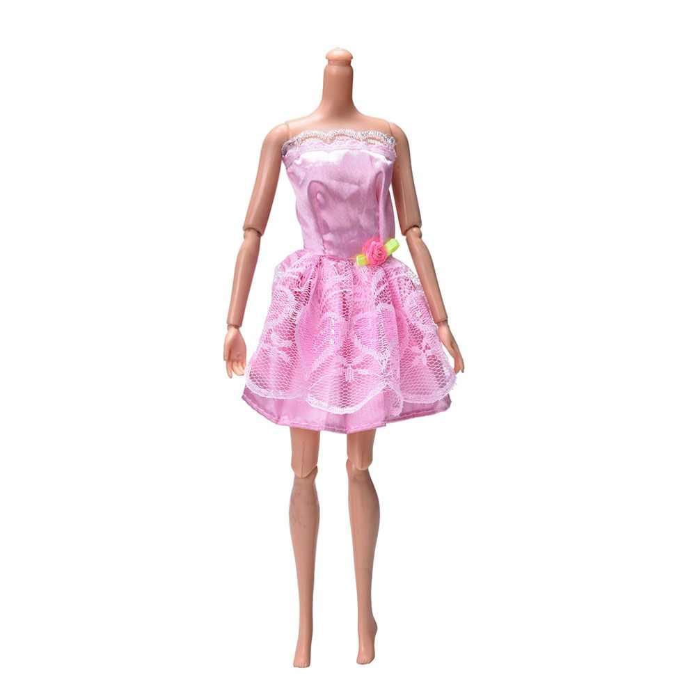 Модный игровой домик, нарядный костюм, вечерние, ручной работы, красивое платье для куклы, одежда для Барби, вечерние, детские игрушки, подарок