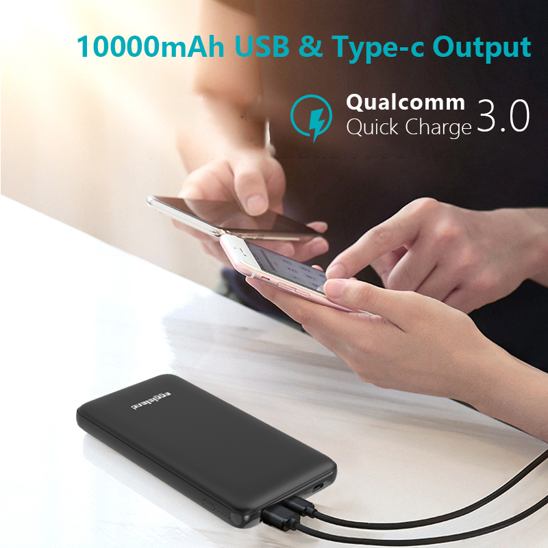 10000mAh Portable Power Bank Mobile Phone External Battery Pack For Xiaomi Redmi note 5/note 6 pro/a2/mi mix 3 For iPhone usb battery bank charger