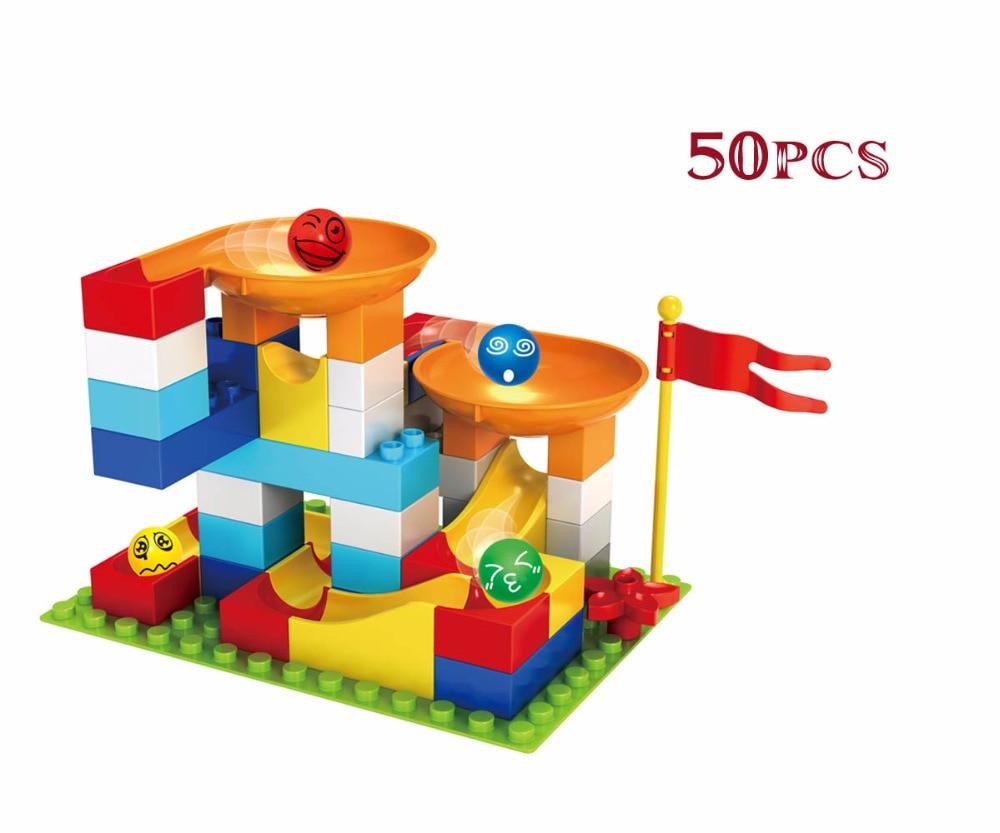Building Construction Toys : Diy duplo construction toys pcs marble race run