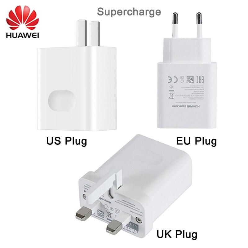 HUAWEI Sobrecarregar USB Carregador Rápido EUA REINO UNIDO DA UE Adaptador de Parede Plugue do Curso 5 V 5A 4.5A 4.5 V de carregamento para p10 P20 P30 Pro Companheiro 9 10 20