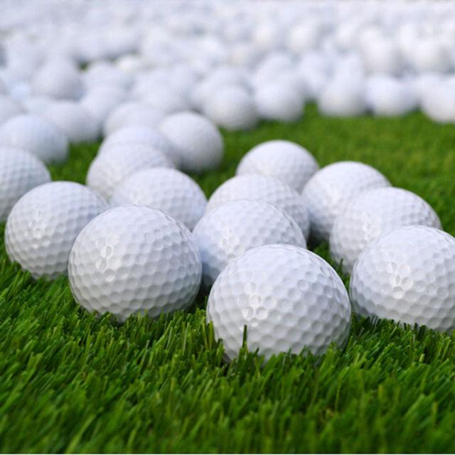 New 10pcs Golf Balls Outdoor Sports White PU Foam Golf Ball Indoor Outdoor Practice Training Aids