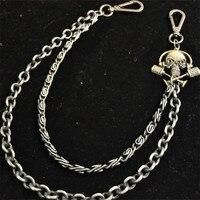 19.7 Skull Biker Jean Wallet Chains Silver Ghost Rock Trousers Hipster Chain for Men Women Unisex Jewelry Punk Accessories