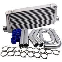 Intercooler 600x300x76 + 76mm 3 turbo Intercooler pipe piping + Blue hose kit