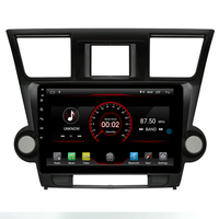 2 din 10.2 inch quad 4 Core 2G+16G Android 9.1 CAR DVD Radio Player for Toyota Highlander 2008 2014 Navigation gps wifi BT MAP