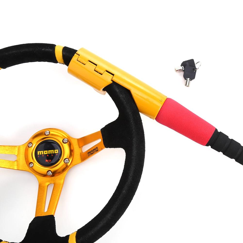 Αντικλεπτικό Σύστημα Τιμονιού τύπου Μπαστούνι Baseball 45 cm Αυτοκινήτου με Κλειδιά - Κλειδαριά Steering Wheel Car Lock