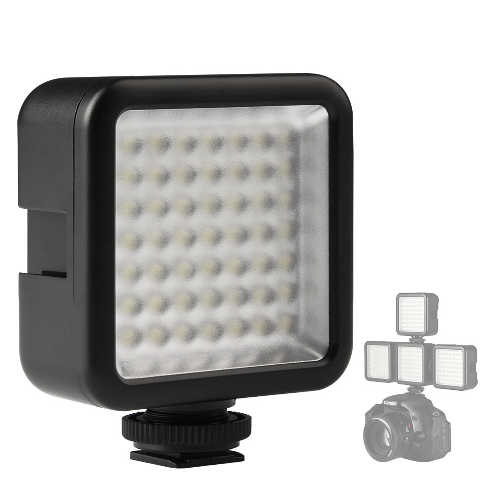 SUPON W49 Mini Led Panel Light Camera Studio Photographic Camcorder Video Lighting 6000k With Shoe Mount For Canon Nikon Sony