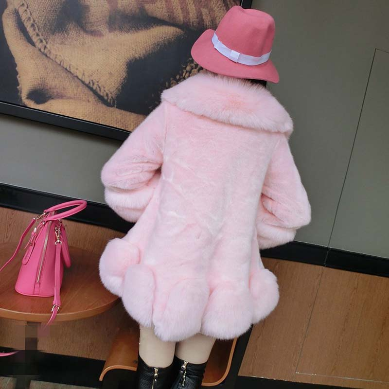 2016 White En Renard Rose Mode Manteau black Nouvelle Fourrure gray D'hiver Femmes Fausse pink Blanc Tm9009 Veste Manteaux De QCshtrd